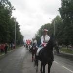 Парад на 400 -летии Лебедяни. Наши Лебедь и Мышка возглавляли шествие!