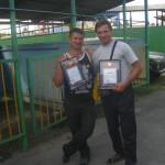 С боевым товарищем с Петровского